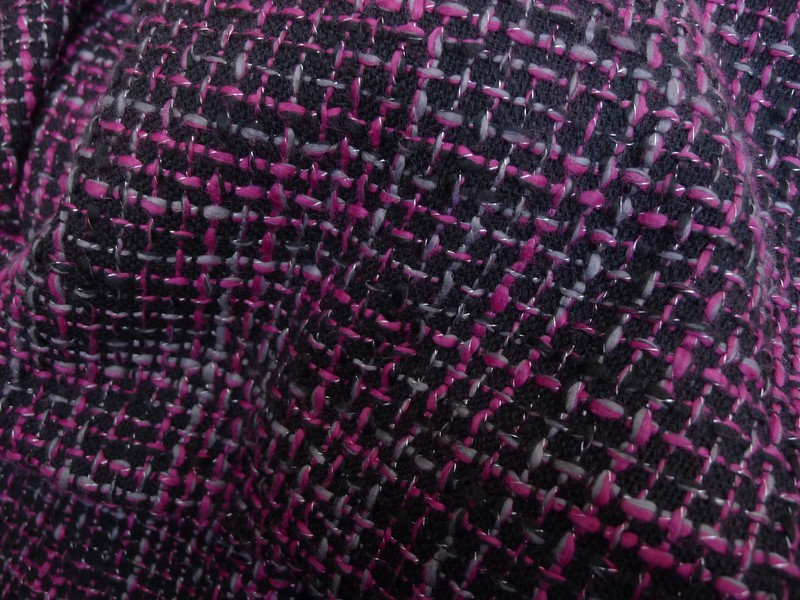 X1528 coupon tissu haute couture lainage tweed pour for Coupon haute couture